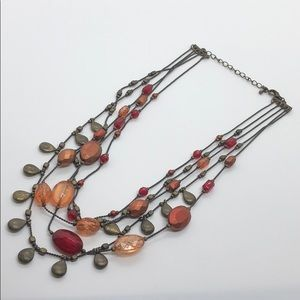 Vintage Metal Beaded Necklace